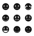 Emoticons for chatting icons set simple style vector image vector image