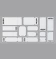 empty ticket template concert movie theater vector image vector image