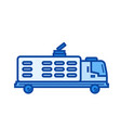 garbage truck line icon vector image vector image