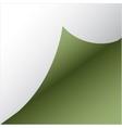 green paper sicker vector image