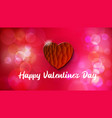 Greeting card happy valentines day bokeh