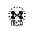 gym and fitness logo template retro style emblem vector image vector image