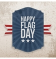 Happy Flag Day realistic Label with Ribbon vector image vector image