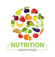 healthy food icon fruits are drawn in cartoon vector image