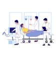 hospital corona virus treatment flat vector image