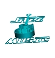jazz guitar music circuit vector image