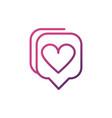 love talk bubble network social media icon line vector image vector image
