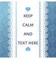 luxury blue lace background card template vector image vector image