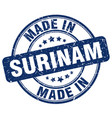 made in surinam vector image vector image