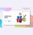 male and female characters prepare for christmas vector image vector image
