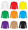 Mens t shirts design template set Multi-colored