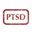 mental disorder ptsd stamps vector image vector image