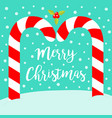 merry christmas candy cane arc xmas decoration on vector image