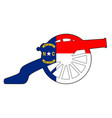 north carolina flag with civil war cannon vector image vector image