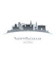 Nottingham England city skyline silhouette vector image vector image