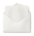 opened envelope with sheet paper inside vector image vector image