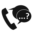 Phone sign and support speech bubbles icon vector image vector image