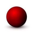 red sphere ball mock up clean round the vector image vector image