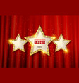 Retro light sign three gold stars