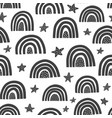 scandinavian rainbows seamless pattern black vector image vector image