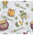 Seamless texture for St Patricks Day with a pot vector image vector image
