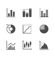 set icons of graph and diagram vector image vector image