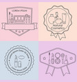set of cosmetic and makeup labels badges logos vector image vector image