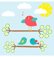 Set of cute birds vector image