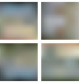 Set of four soft blurred backgrounds vector image vector image