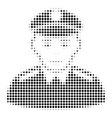 soldier halftone icon vector image