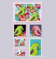 stamps collection vector image vector image
