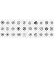 steering wheel assortment doodle set vector image