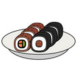 sushi japanese food icon vector image vector image