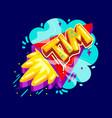 tim name rocket vector image vector image