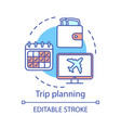 trip planning concept icon vector image vector image
