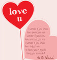 valentine greeting one heart card vector image vector image