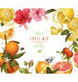 vintage citrus frame vector image vector image