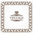 Vintage heraldic imperial frame vector image vector image