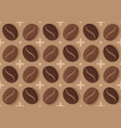 vintage seamless pattern with coffee beans vector image