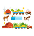warehouse farmland pets conveying hay wheat vector image