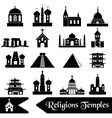 world religions types of temples icons eps10 vector image vector image