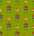 barbecue home seamless pattern background vector image