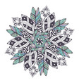 mandala in floral style zentangle for coloring vector image