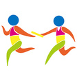 Relay race icon in colors