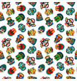 tribal colorful masks seamless pattern vector image