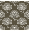 White paisley seamless pattern vector image