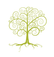 Abstract Green Tree Isolated on White Backgr vector image vector image