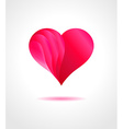 Abstract pink heart on gray background vector image vector image