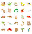 animal shelter icons set cartoon style vector image vector image