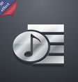 Audio MP3 file icon symbol 3D style Trendy modern vector image vector image